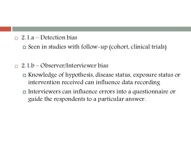 Selection Bias in Cohort Studies - Boston University