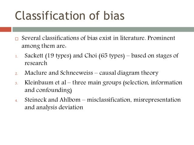 what is bias in research