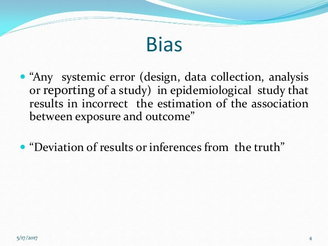 confounding bias in case control study Observational research methods research design ii:  and case-control studies  are the controls matched or randomised—to minimise bias and confounding.