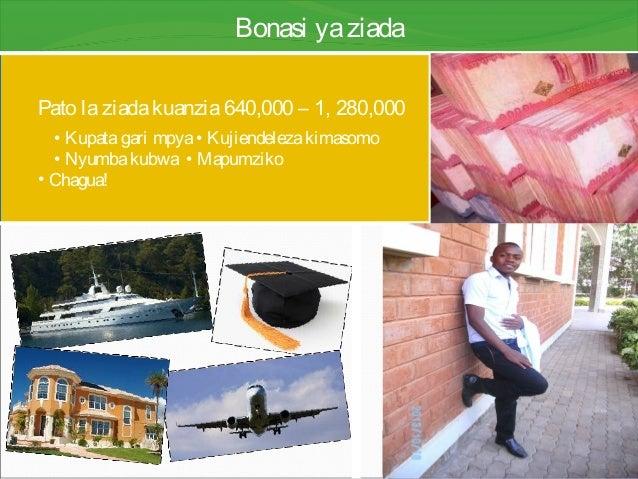 Bonasi yaziada Pato laziadakuanzia640,000 – 1, 280,000 • Kupatagari mpya• Kujiendelezakimasomo • Nyumbakubwa • Mapumziko •...