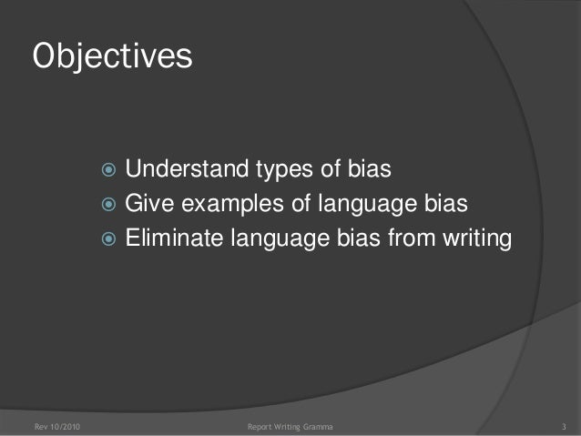 Bias in Business Communication