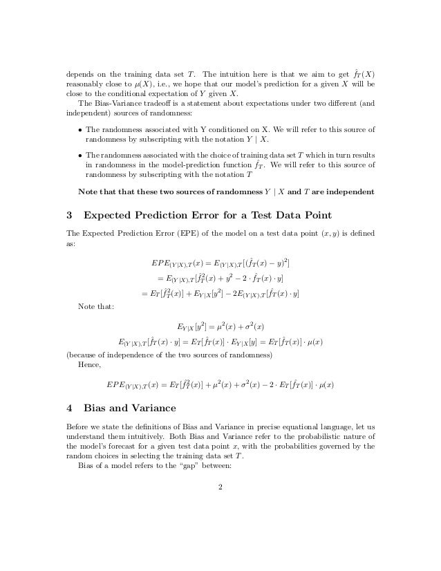 Demystifying the Bias-Variance Tradeoff Slide 2