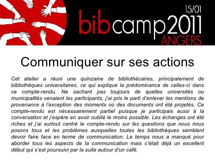 Bibcamp11 communiquer sur ses activités