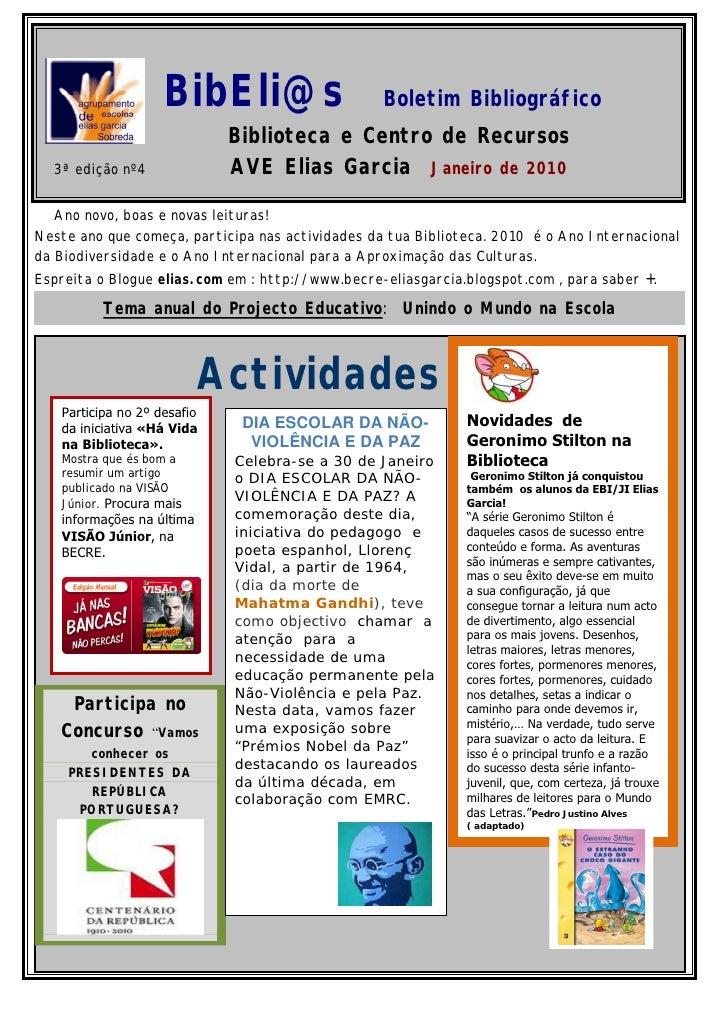 BibEli@s                      Boletim Bibliográfico                              Biblioteca e Centro de Recursos   3ª ediç...