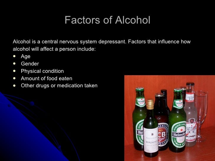 factors that influence alcohol use The national centre on education and training in addiction (nceta) undertook  a three-year national research project – examining the cultural factors that.