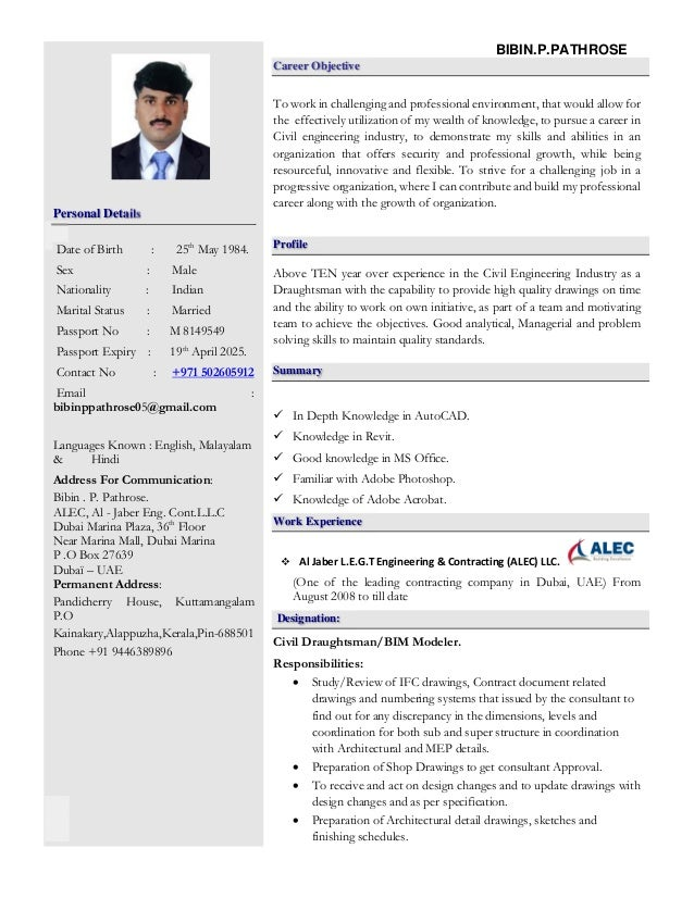 bibin resume 12082015