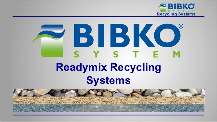 Readymix Recycling Systems