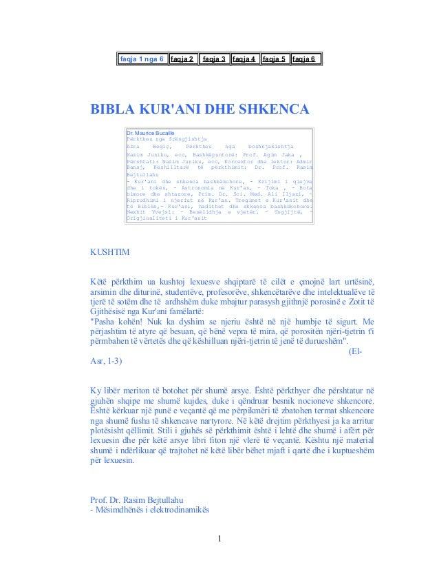 faqja 1 nga 6 faqja 2 faqja 3 faqja 4 faqja 5 faqja 6BIBLA KURANI DHE SHKENCADr. Maurice BucaillePërktheu nga frëngjishtja...