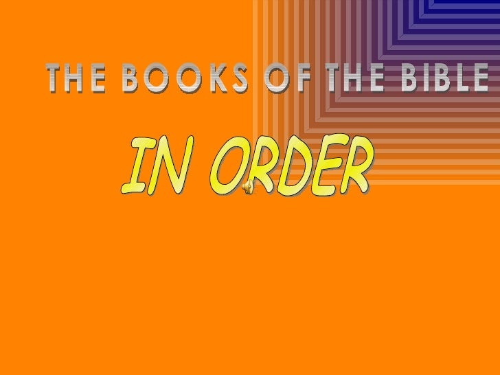 THE BOOKS OF THE BIBLE IN ORDER