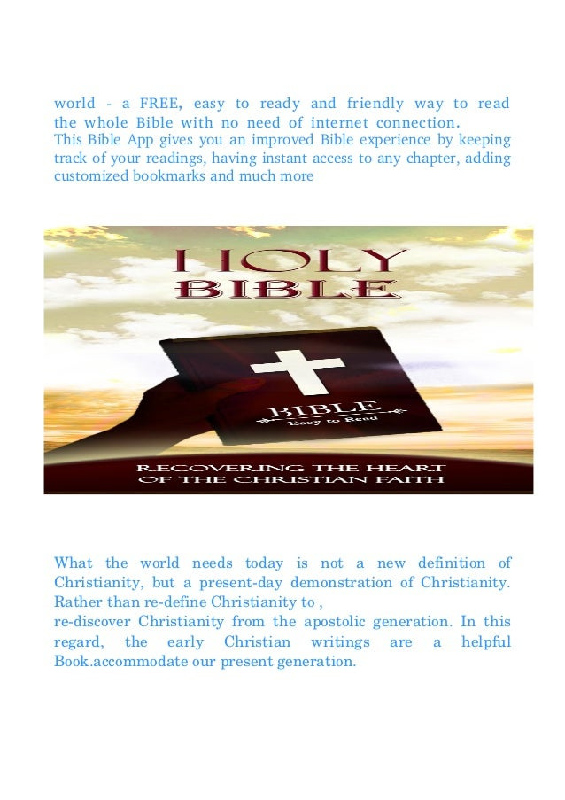 Holy Bible - Easy to Read Version (Offline) Pdf