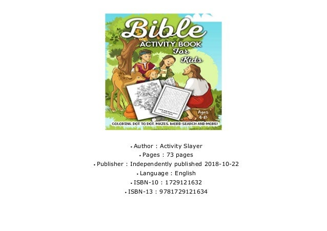 Doc] Bible Activity Book for Kids Ages 4-8: A Fun Kid Workbook Game …