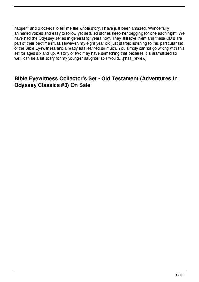 Bible Eyewitness Collector S Set Old Testament Adventu