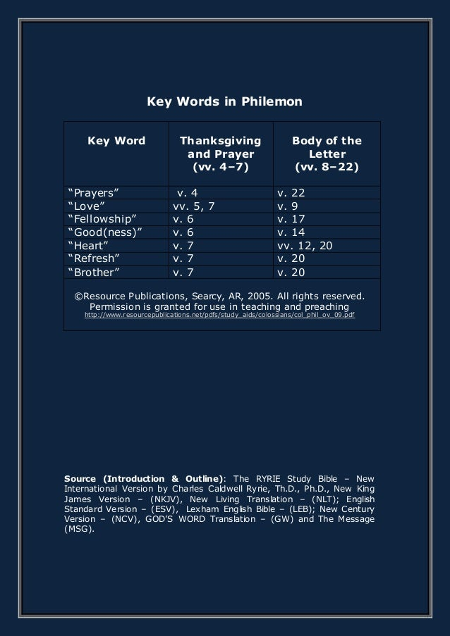 THE EPISTLE OF PAUL TO PHILEMON
