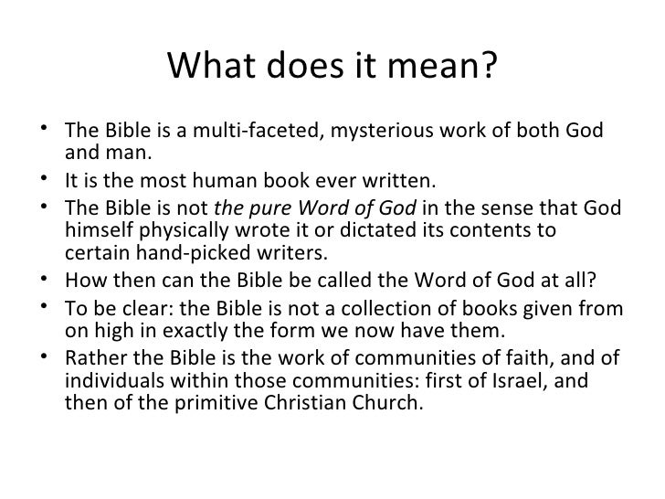 what does the bible mean to you essay Contents old testament new testament bible abbreviations in old testament analysis of god in the hebrew bible recent pages would you like to get some papers.