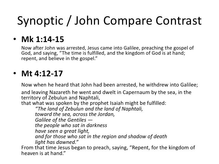 """synoptic evangelism and the gospel of john essay While john's gospel may have been written after the other gospels, it was early  enough to  in the """"synoptic gospels,"""" (the gospels of mark, matthew and luke   here is a very brief summary of the evidence establishing the early dating of the  gospel of john:  previous jumping over the evangelism wall."""
