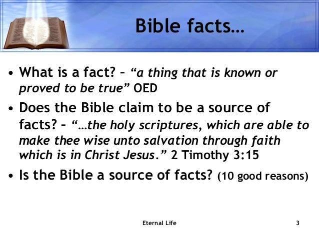 Bible facts about eternal life