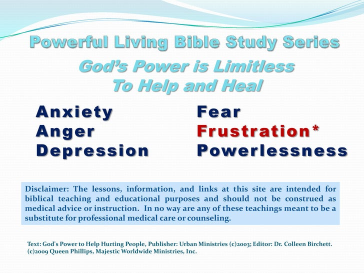 Bible Study Lesson 5 Frustration