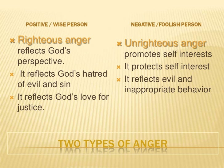 Anger: Bible study on anger.