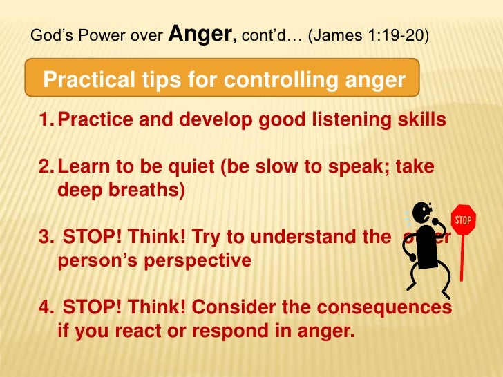 A Lesson for Children on ANGER (from James 1:19-21 ...
