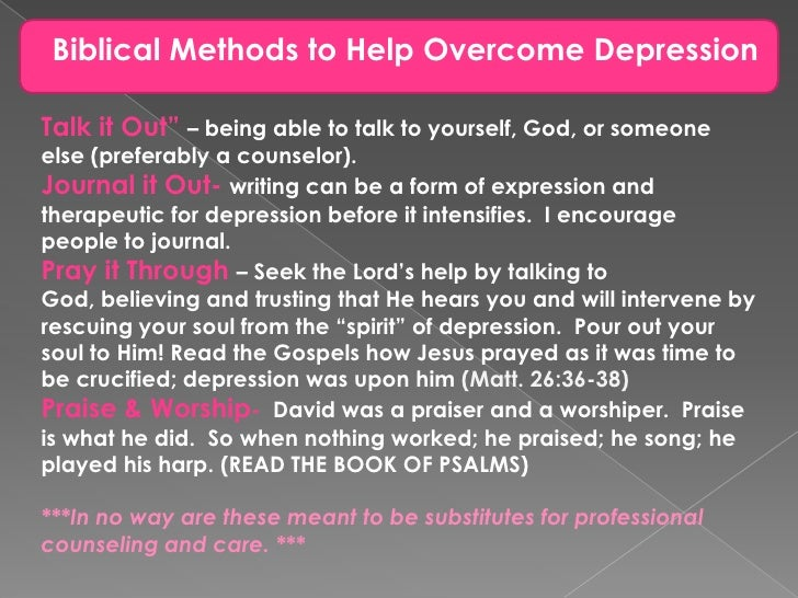 Dealing With Depression > Free Bible Study Guides