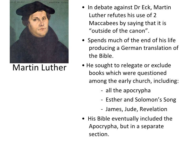 Bible The Luther Did From Remove Why Books 7 Martin