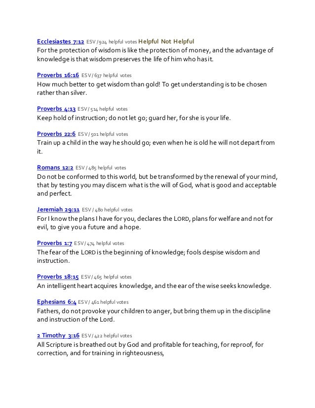 Bible verses about education