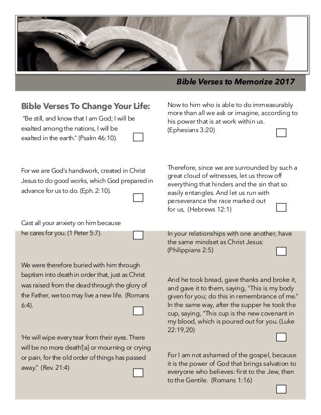 Bible verses that will change your life