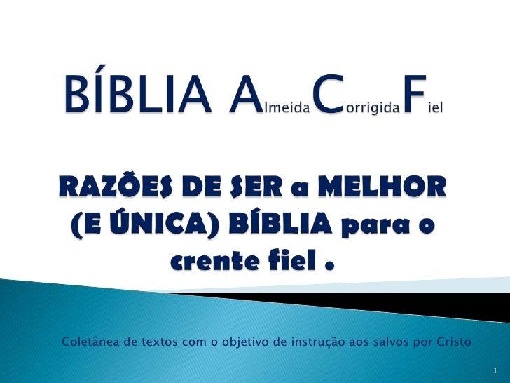 Coletânea de textos com o objetivo de instrução aos salvos por Cristo                                                     ...