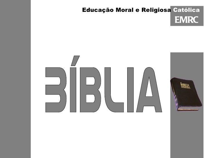 EMRC Bíblia Educação Moral e Religiosa  Católica