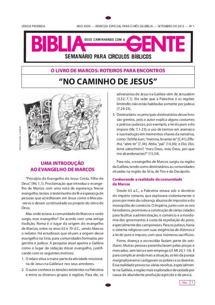 VENDA PROIBIDA                       ANO XXXV — REMESSA ESPECIAL PARA O MÊS DA BÍBLIA — SETEMBRO DE 2012 — Nº 1           ...