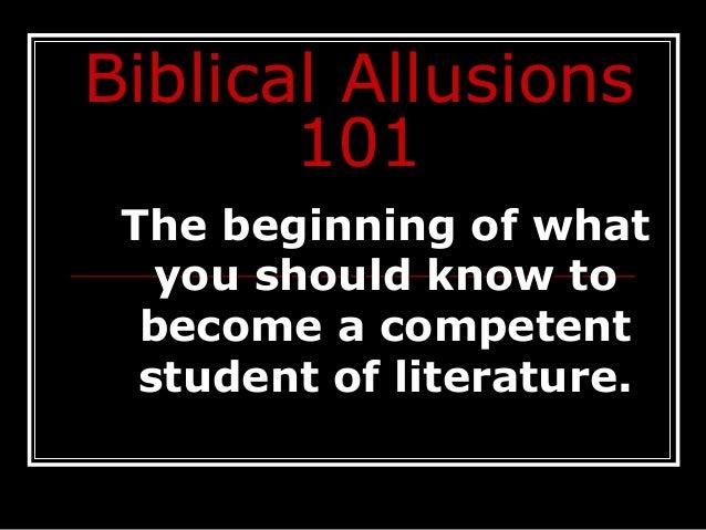 Biblical allusions 101