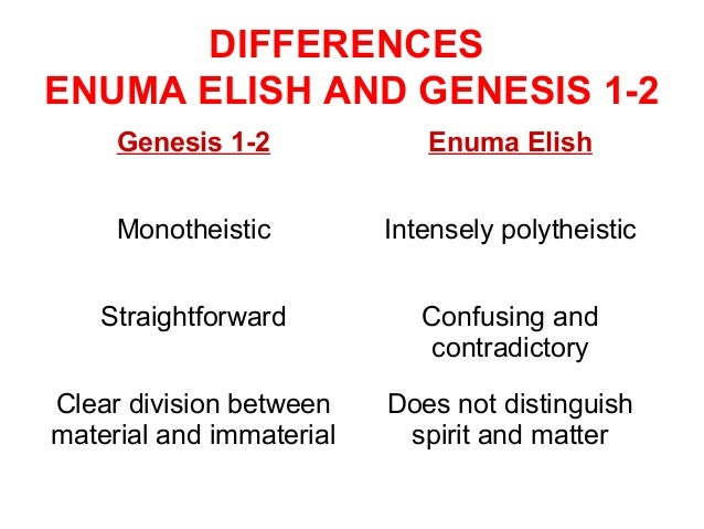Does the Genesis creation account come from the Babylonian Enuma Elish?