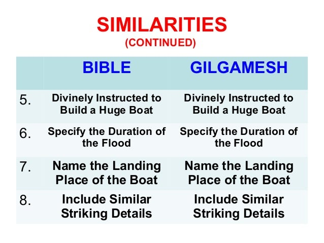 which is older epic of gilgamesh or the bible
