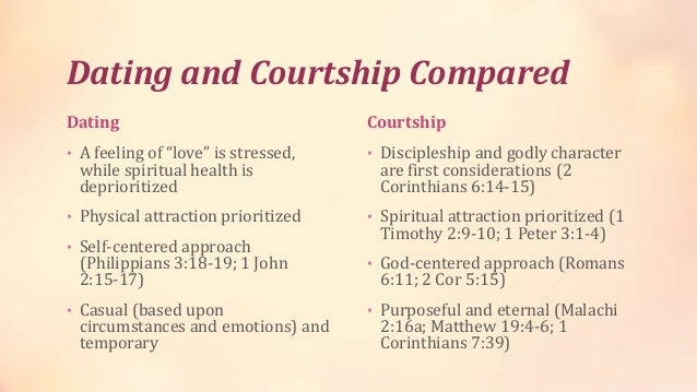 The difference between dating and courting