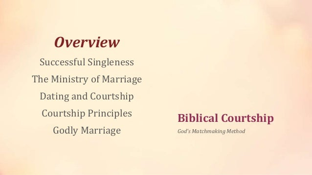 Godly dating principles