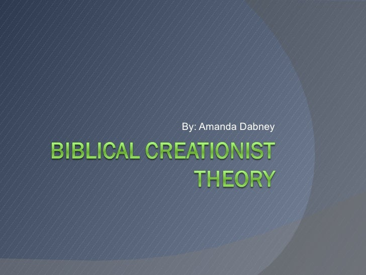 an overview of the creationist theory Big bang theory - concise synopsis of the big bang theory's background, historical foundations, major problems what are the alternatives to our ultimate question of origins.