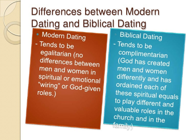 Diff btw dating and courtship gods