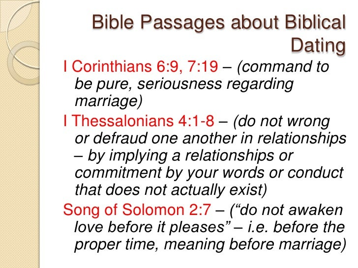 What does a biblical dating relationship look like