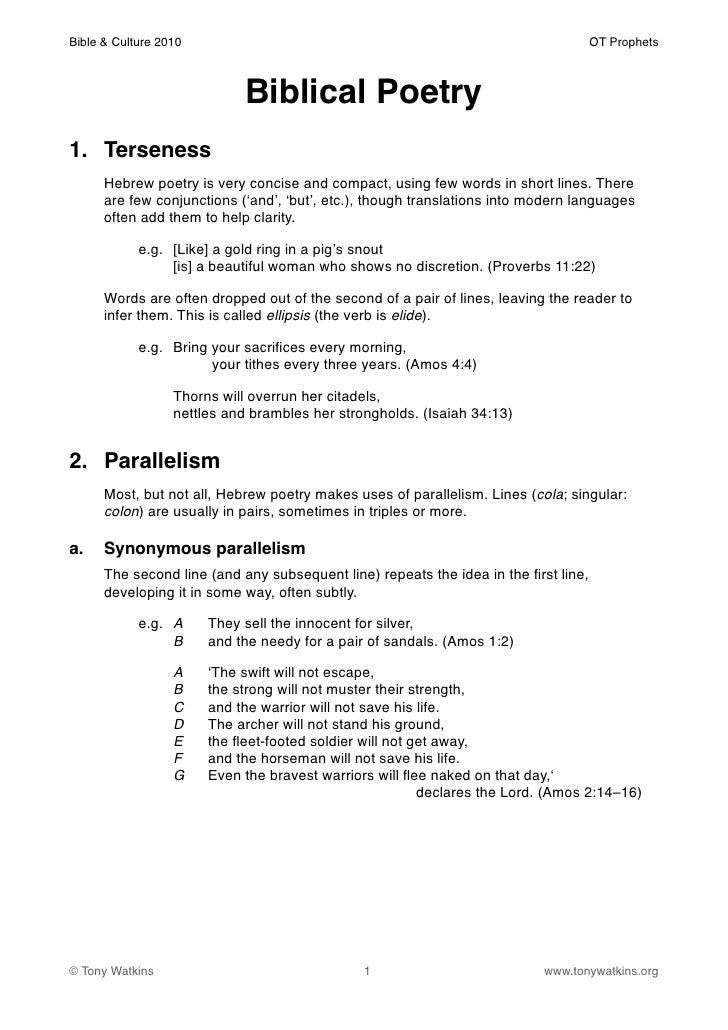 Bible & Culture 2010!                                                                OT Prophets                          ...