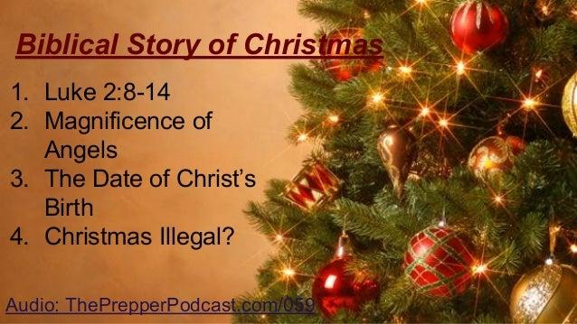 Biblical story of christmas