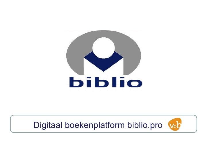 Digitaal boekenplatform biblio.pro
