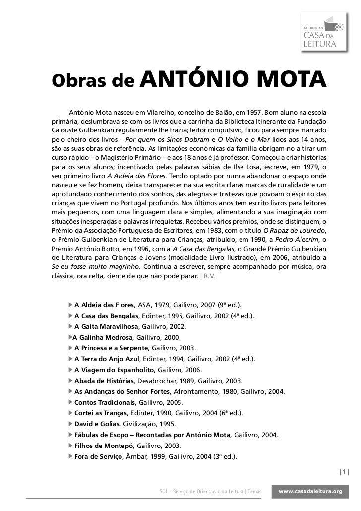 Obras de ANTÓNIO                                                                MOTA       António Mota nasceu em Vilarelh...