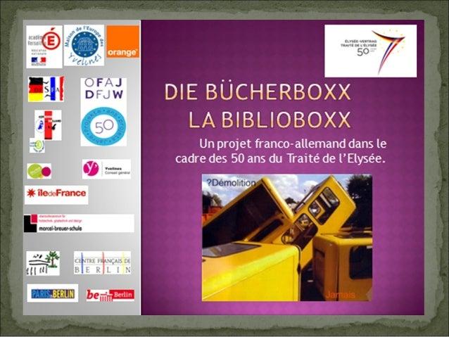Depuis 2010, les BücherboXX se développent à Berlin. Ce sont d'anciennes cabines téléphoniques recyclées en bibliothèques ...