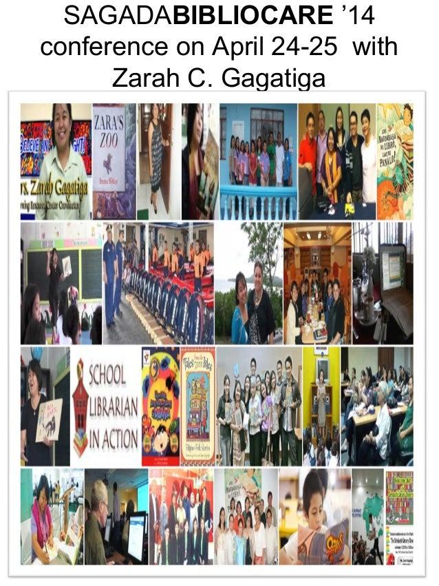 SAGADABIBLIOCARE '14 conference on April 24-25 with Zarah C. Gagatiga