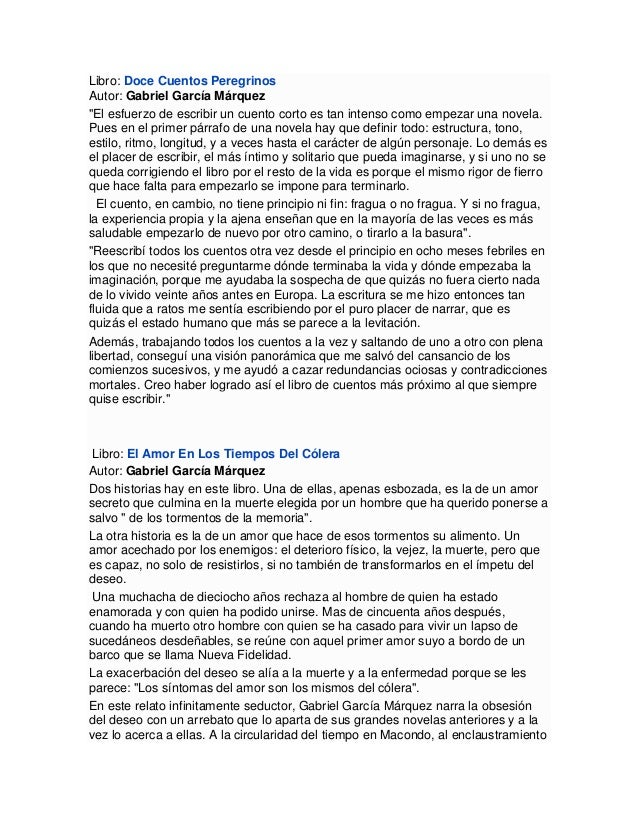 Bibliograf a de gabriel garcia marquez libros for Cuentos de gabriel garcia marquez