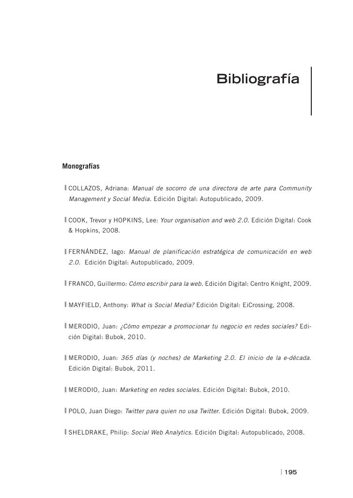 BibliografíaMonografíasCOLLAZOS, Adriana: Manual de socorro de una directora de arte para Community Management y Social Me...
