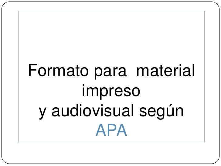 Cómo Preparar una monografía según APA