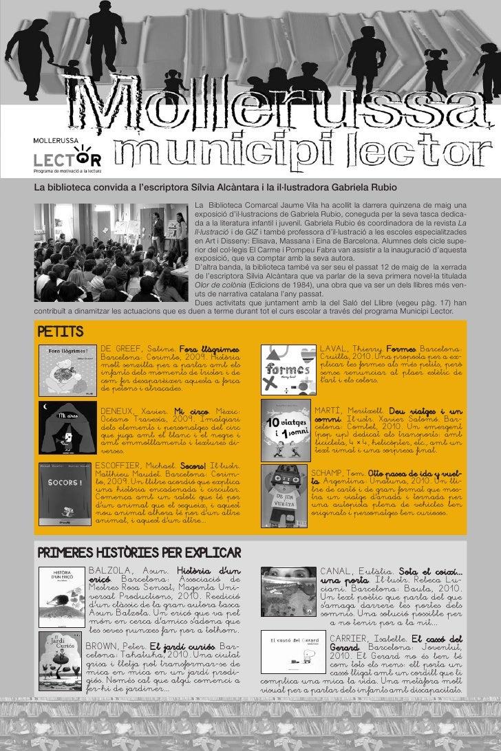La biblioteca convida a l'escriptora Sílvia Alcàntara i la il·lustradora Gabriela Rubio                                   ...