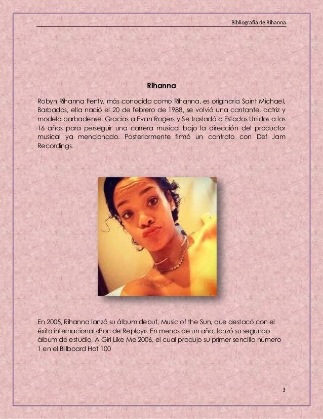 Rihanna Biografia Resumida Rihanna Age Albums