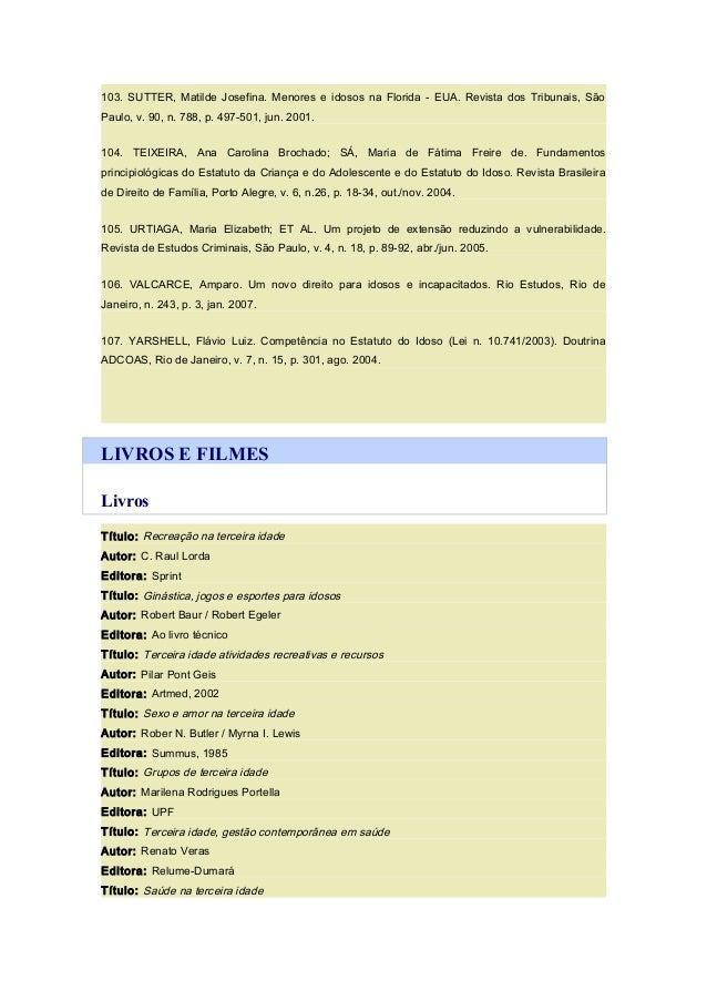 Bibliografias - idoso a528f8b8960d1